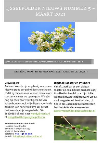 Nieuwsbrief IJsselPolder maart 2021